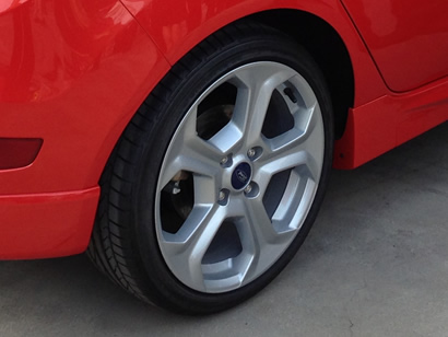 2014 Ford Fiesta ST wheels